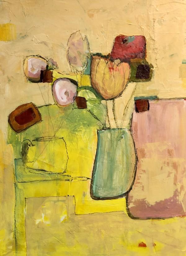 ARRANGEMENT on YELLOW by Jill Krasner