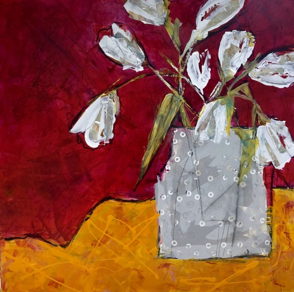 White Tulips by Jill Krasner