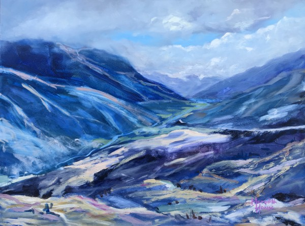 Mountains at Crown Range by Meredith Howse