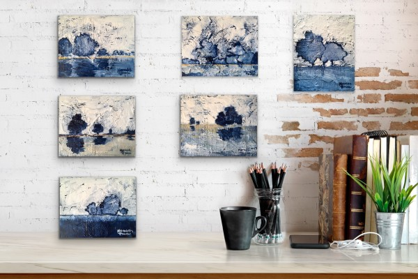 Wicker Park Blue - 6 pieces by Meredith Howse