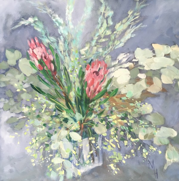 Proteas and Eucalyptus 2 by Meredith Howse