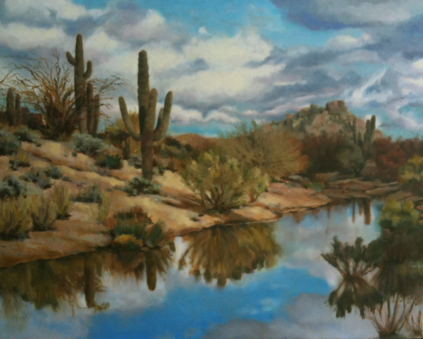 Desert Rain Cloud by Kathy Ferguson