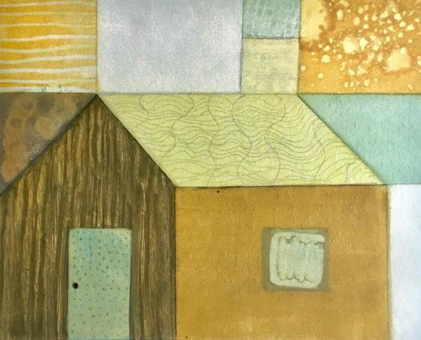 Log Cabin Squarish 1 by Tina Garrick Albro