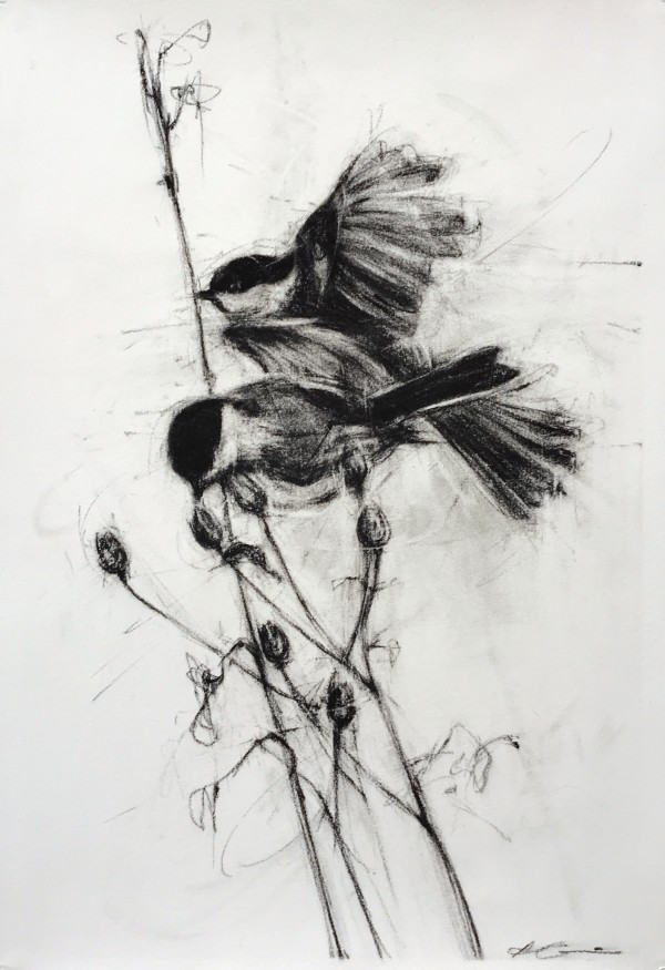 Chickadees by April Coppini