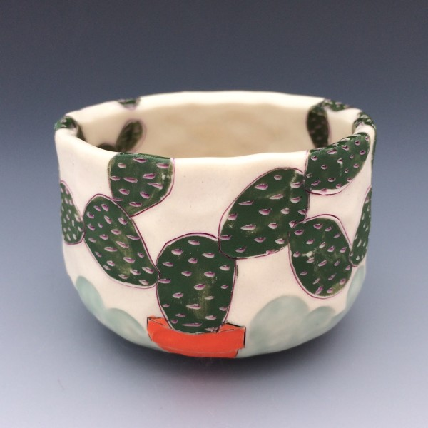 Potted Prickly Pear 2 by Sarah Magar