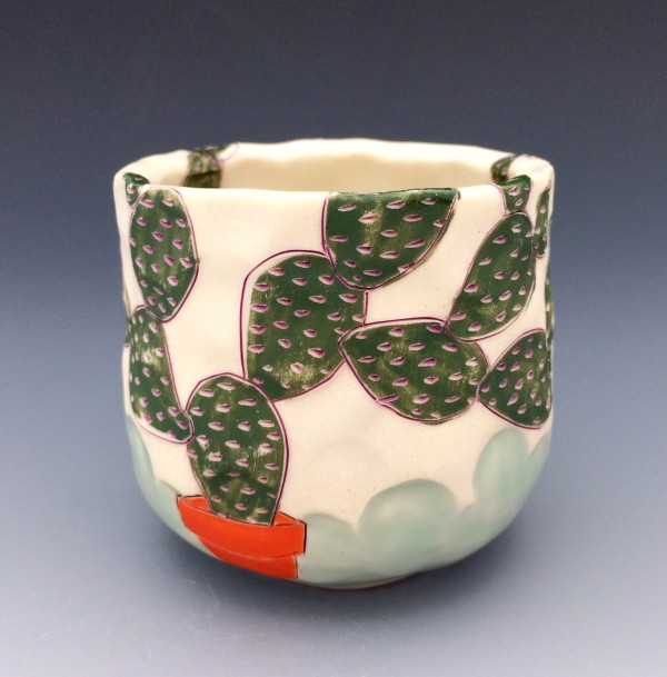 Potted Prickly Pear 1 by Sarah Magar