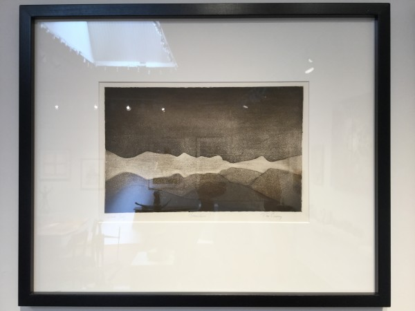 Snow line-Artist Proof Etching  by Tim Carney