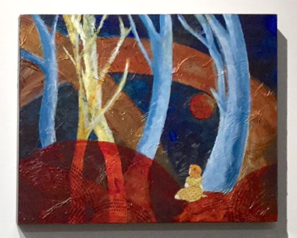 Girl learning to hear the trees by Maureen Shaughnessy