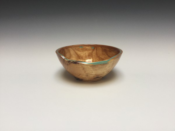 Spalted Birch and Cherry Bowl  by John Andrew