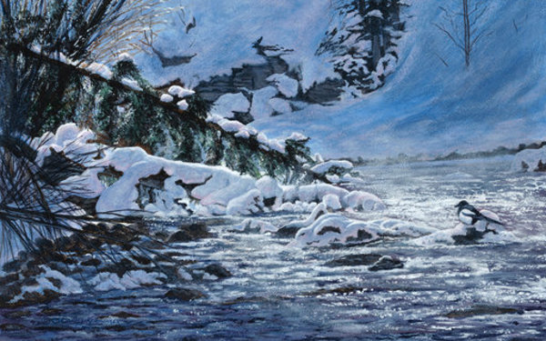 Morning on the Maligne River by Cindy Sorley-Keichinger
