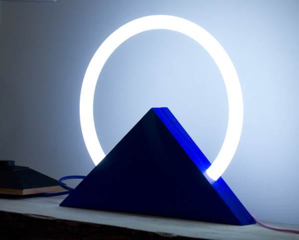 Blue Triangle by Shelley C Rose