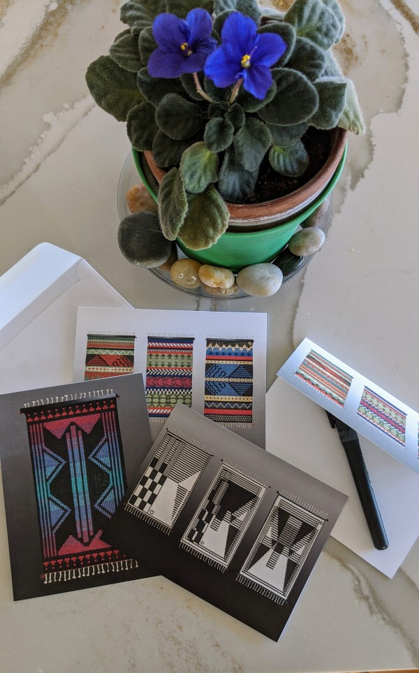Notecards - Handwoven Images from the Contemporary Series, Pkg. of 6 by Carol Irving