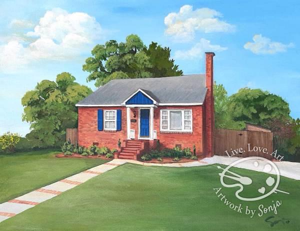 Brick House Portrait by Sonja Petersen