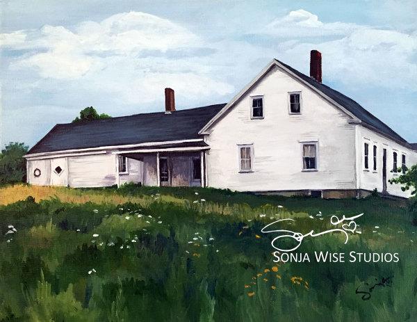 Maine Farmhouse by Sonja Petersen