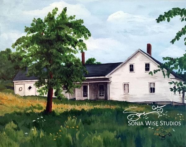 Maine Farmhouse 2 by Sonja Petersen