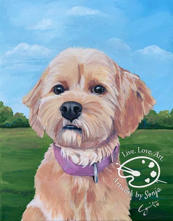 Nellie Pet Portrait Painting by Sonja Petersen