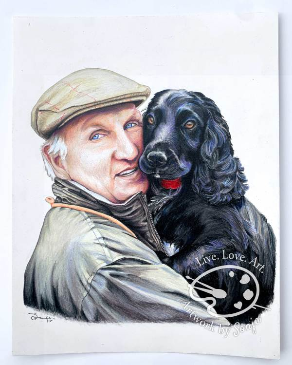 Pet Portrait with Cocker Spaniel by Sonja Petersen
