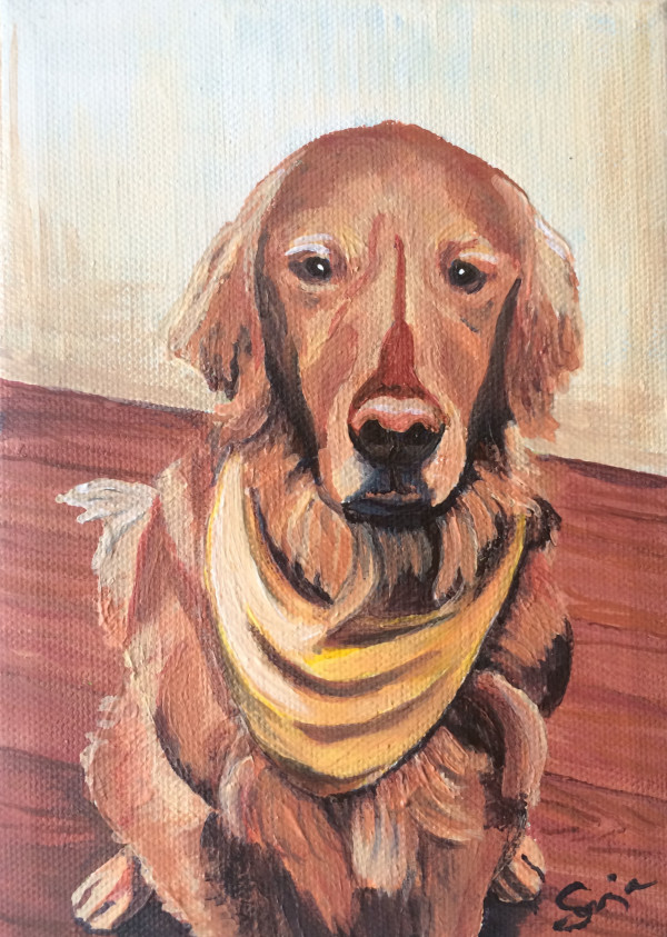 Tupelo Pet Potrait by Sonja Petersen