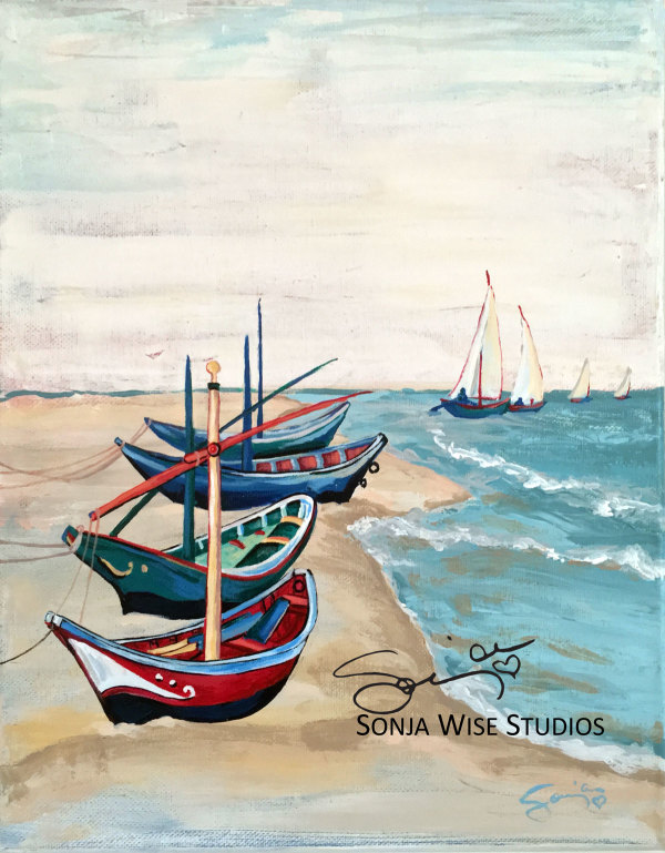 Van Gogh's Boats by Sonja Petersen