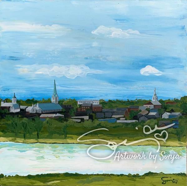 Skyline over Rappahannock by Sonja Petersen