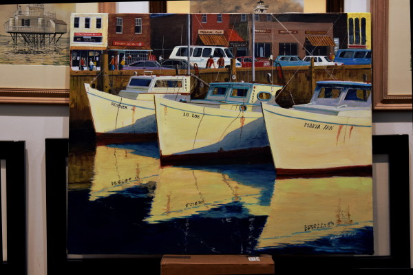 Chesapeake Bay Oysterboats in Annapolis Harbor by Richard S. Hall