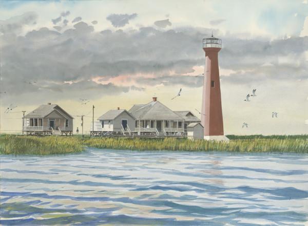 Aransas Pass Lighthouse (now Lydia Ann Channel Lighthouse) by Richard S. Hall