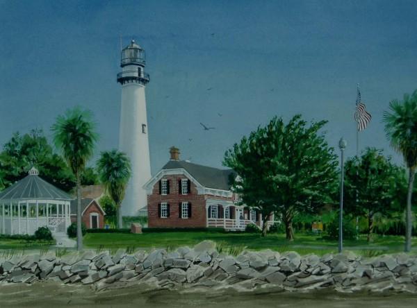 St Simon's Lighthouse, Georgia by Richard S. Hall