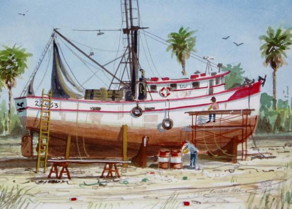 Shrimp Boat #100 by Richard S. Hall