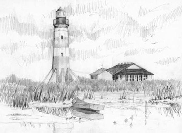 Sabine Pass Lighthouse, TX/LA by Richard S. Hall