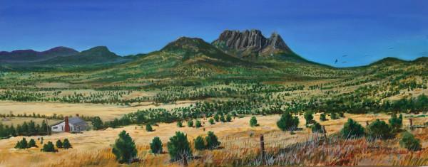 Sawtooth Mountain, Favis Mountains, West Texas by Richard S. Hall