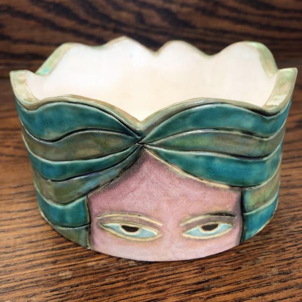 Peeking Eyes Bowl #2 by Nell Eakin