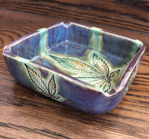 Rainbow Love 5 leaf tray #3 by Nell Eakin