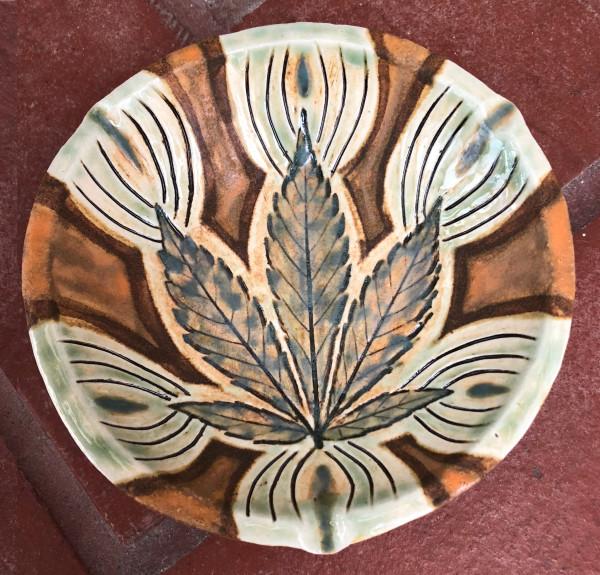 Orange Earth Energy tray by Nell Eakin