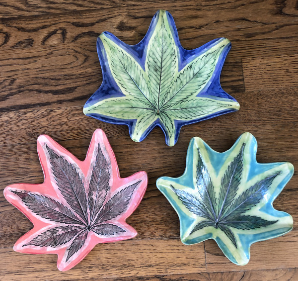 Super Size Leaf Dishes by Nell Eakin