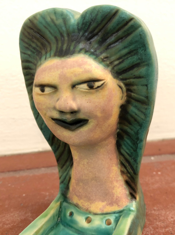 Serena of the Sea, an incense holder by Nell Eakin