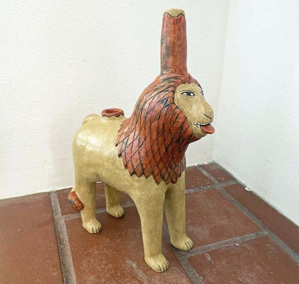 Sun Cat, a Lion Pipe by Nell Eakin
