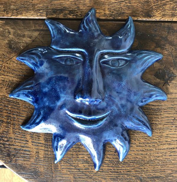 Ultra Blue Turquoise Glow Sun by Nell Eakin