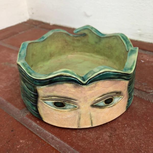 Peeking Eyes Bowl #1 by Nell Eakin