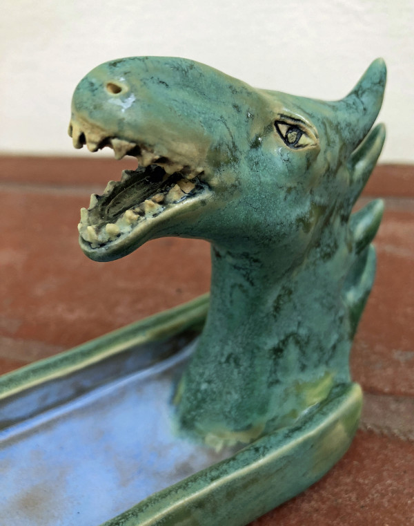 Dragon incense holder  by Nell Eakin