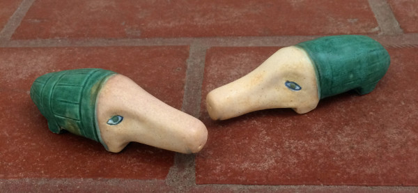 Jonah and Jasper the turquoise textured piggies ( 1 available) by Nell Eakin
