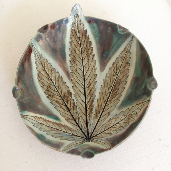 Outrageous small tray by Nell Eakin