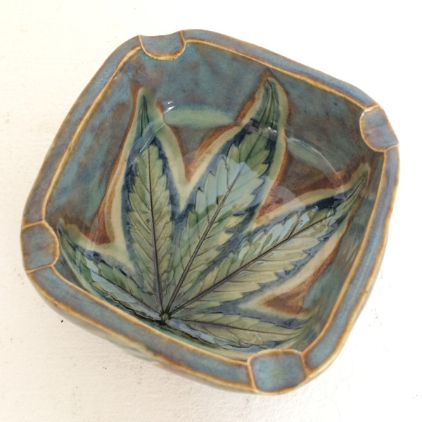 Rainbow Pride leaf impression box by Nell Eakin