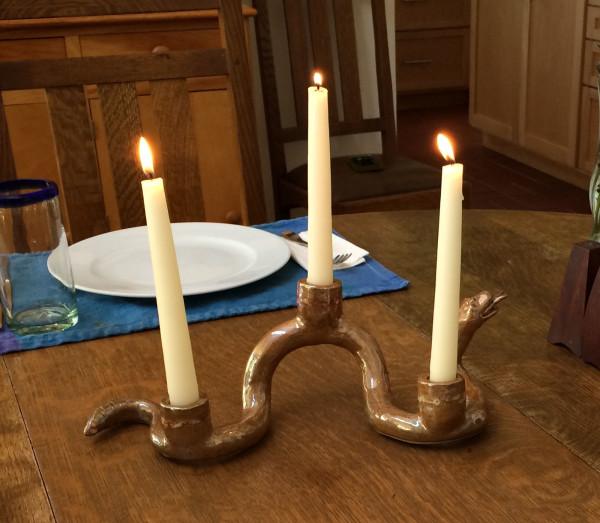 Snake with 3 candles by Nell Eakin