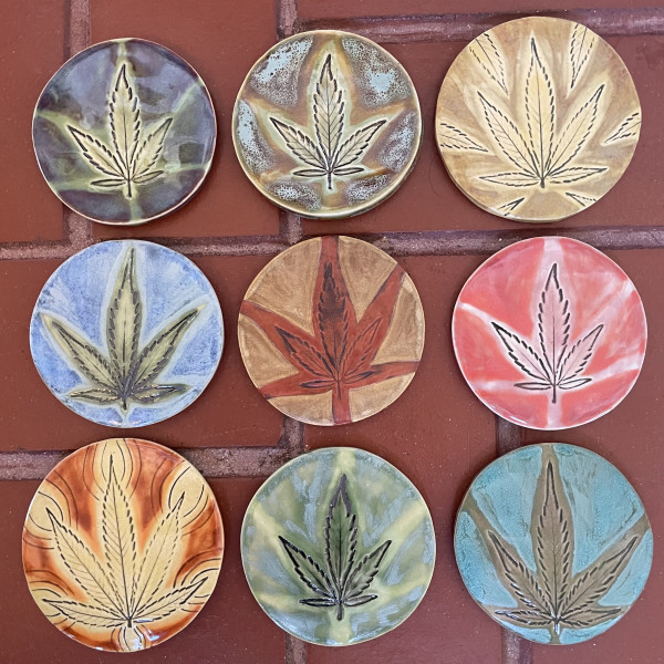 Weed coasters! Order  by number by Nell Eakin