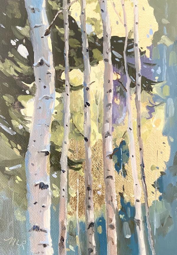 Golden Leaves by Nancy Romanovsky