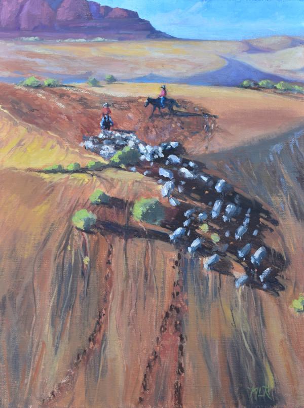 Gathering Sheep by Nancy Romanovsky