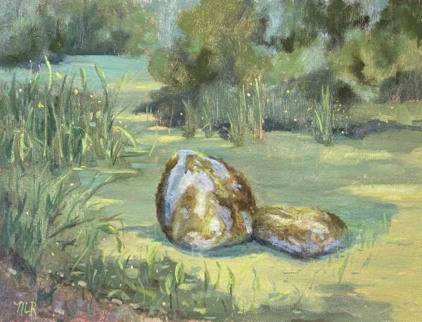Verdant Pond by Nancy Romanovsky