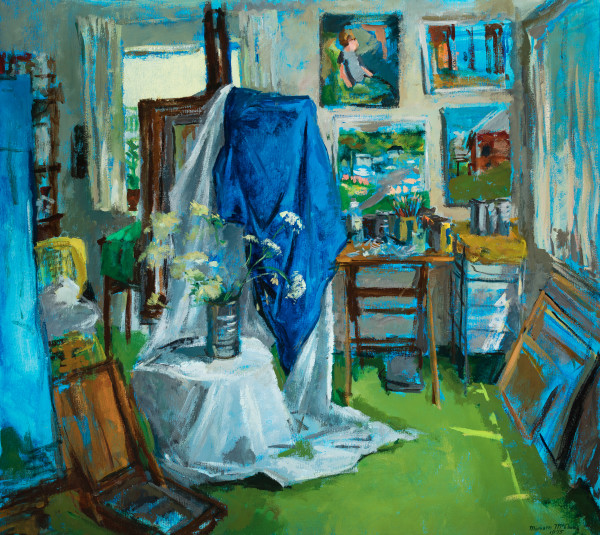 Blue Studio by Miriam McClung