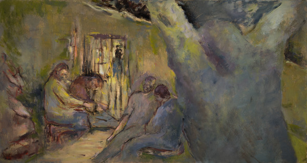 Jesus at the Gate of Gethsemene by Miriam McClung