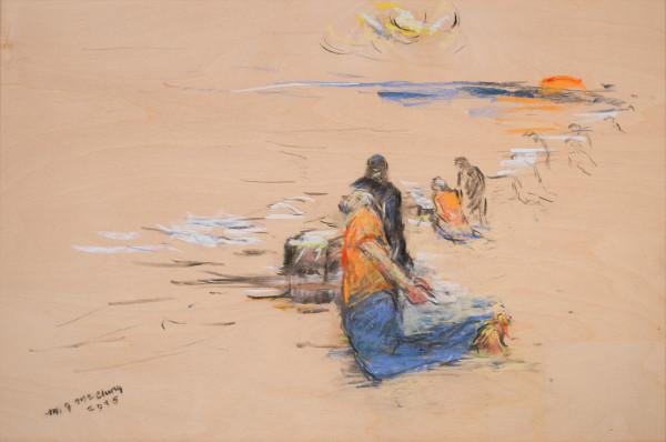 Twenty-one at the Beach by Miriam McClung